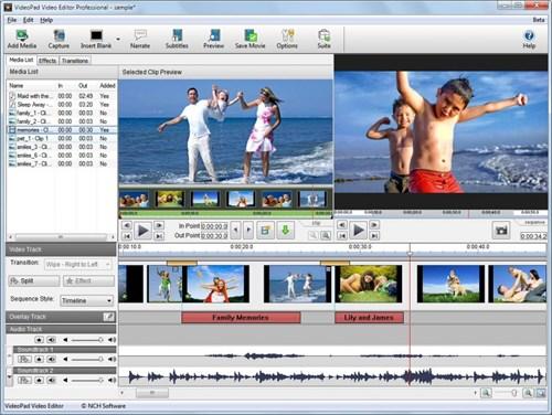 Phần mềm VideoPad Video Editor
